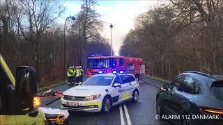 09.12.2018 - Bil kørte ind i et autoværn - Charlottenlund