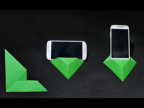 origami phone standholder 20 youtube