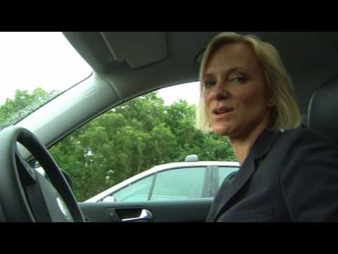 Hermione Norris drives a Tiguan