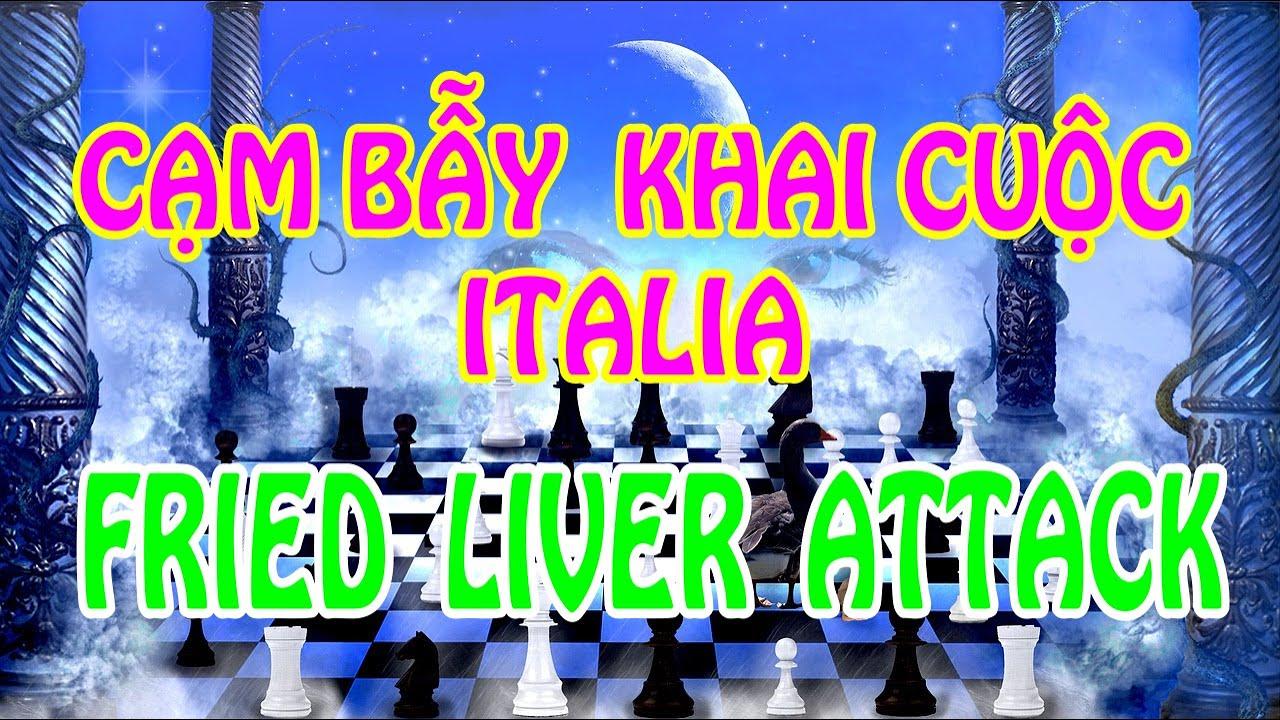 Cạm Bẫy Hay Nhất Khai Cuộc Italia – Fried Liver Attack || Playchess1vn