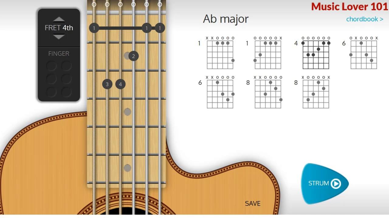 A Flat Or G Chord Guitar Youtube