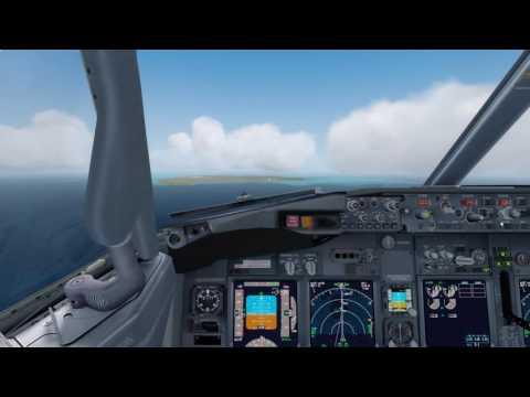 Pmdg 737 NGX Landing at Norfolk island