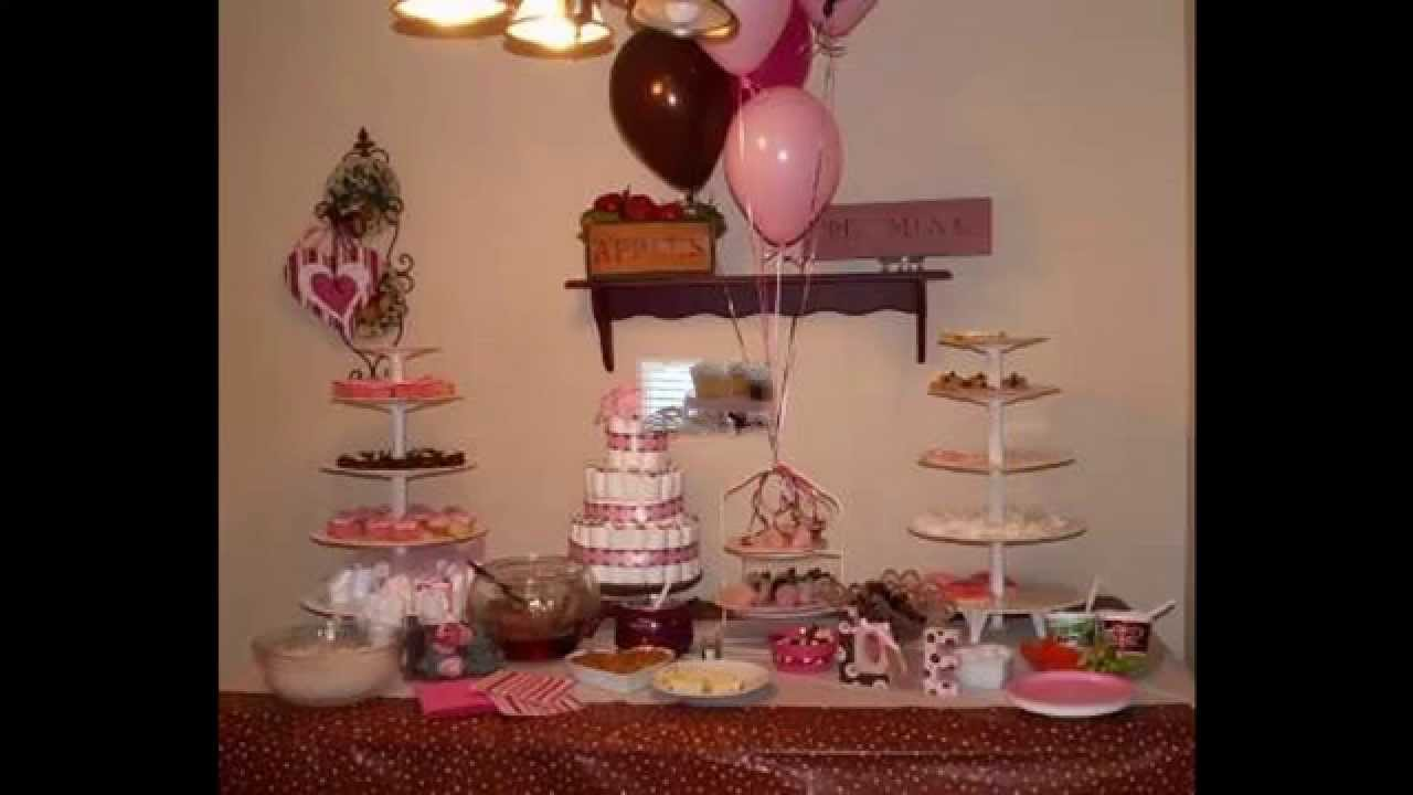 Creative Pink And Brown Baby Shower Themes Decorating Ideas Youtube
