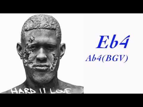 Usher - Tell Me (Hard ll Love) Vocal Range Analysis Ab2 - F5
