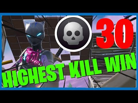 HIGHEST KILL WIN! - Fortnite: Battle Royale Squads
