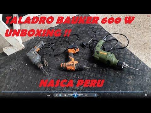taladro bauker 600 W unboxing