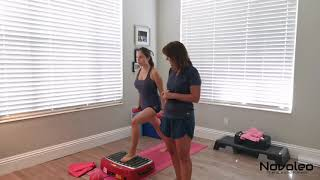 Full body workout using Galileo whole body vibration machine