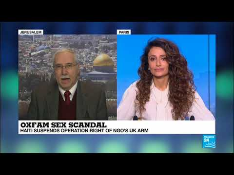 Prof. Gerald Steinberg, Oxfam Sex Scandal, France 24 TV, Feb 24, 2018  ENGLISH