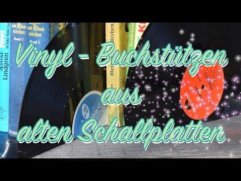 Diy Vinyl Buchstützen Upcycling Alte Schallplatten Deko