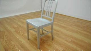 Wholesale Interiors Modern Cafe Chair In Brushed Aluminum