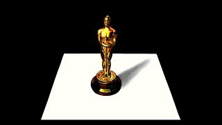 Drawing 3D Oscar Award Statuette