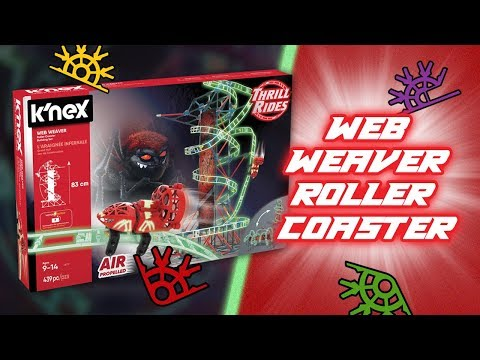 K'NEX THRILL RIDES WEB WEAVER ROLLER COASTER! | A Toy Insider Play by Play