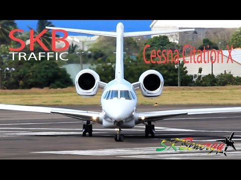 Cessna Citation X (N794XJ) departing St. Kitts Robert L. Bradshaw Int'l Airport