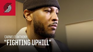 "Carmelo Anthony: ""We was fighting uphill tonight"" 
