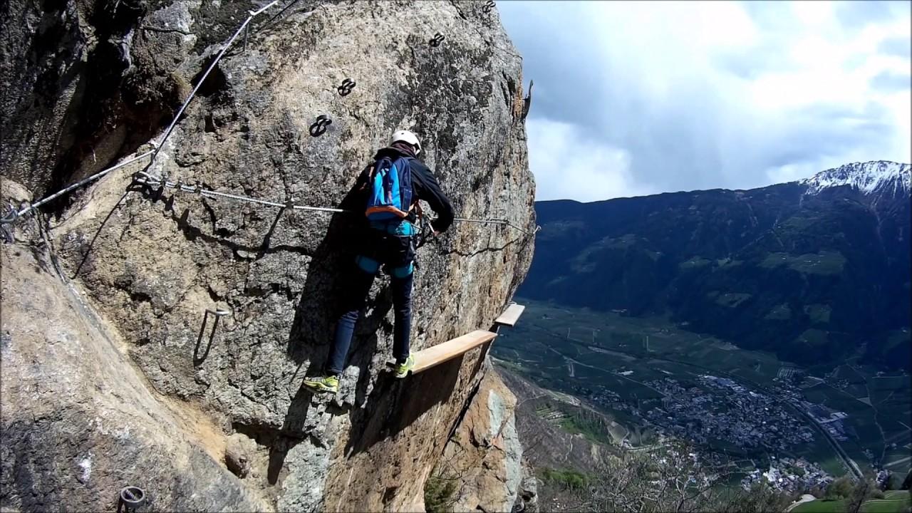 Klettersteig Unterstell : Unterstell kletterfelsen naturns youtube