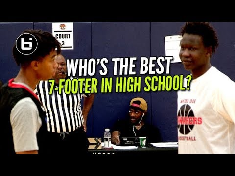Bol Bol vs Moses Brown!! Who's The Best 7-Footer In High School?