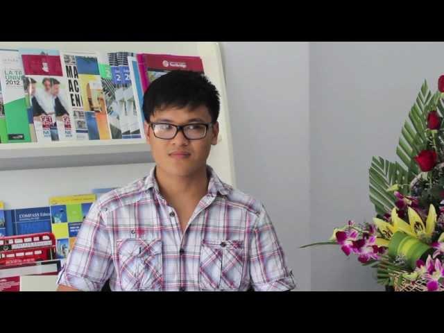 Nguy?n Quang Huy - H?c sinh Vi?t Nam ??u tiên nh?n h?c b?ng t?i ?H Cardiff