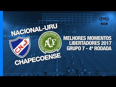 Melhores Momentos - Nacional-URU 3 x 0 Chapecoense - Libertadores - 27/04/2017