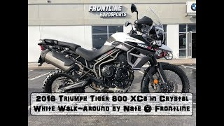 2016 Triumph Tiger 800 XCa in Crystal White with Kenda Big Blocks Walk Around by Nate @ Frontline