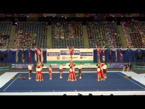 Indonesia ICC ALL-STARS Cheerleading Team competed in CAIOC 2013, Tokyo, Japan