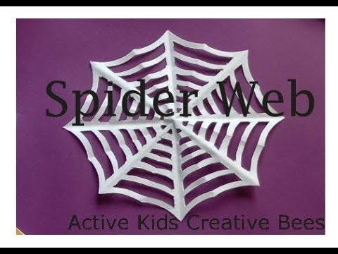 Paper Spider Web |DIY | How to make | Kids Craft