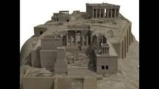 Acropolis 3D Models Pathenon, Erechtheion, Propylaea, Temple Nike
