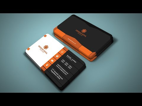 How to Design Professional Business Card in Photoshop Tutorial 2019 thumbnail