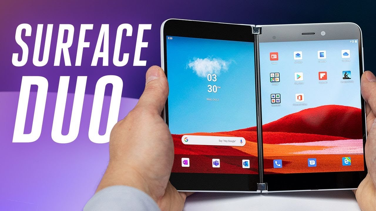 A first look at Surface Duo, Microsoft's foldable Android phone
