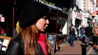 Rebecca Nelson sings Hallelujah in Grafton St. Dublin