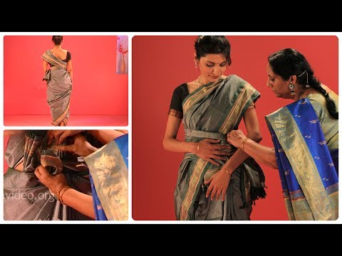 Ceylonese Dancer Style Saree - Tutorial