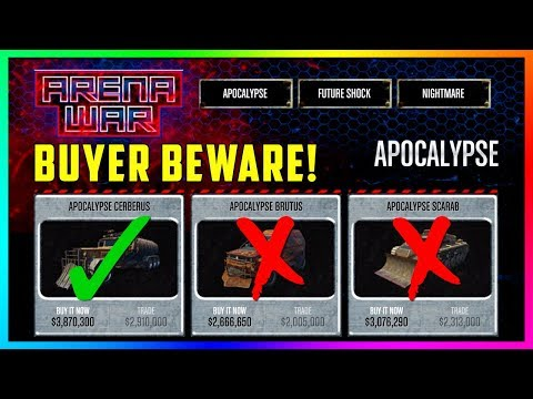 GTA Online Arena War DLC Update - BUYER BEWARE! Which Cars, Vehicles & Items You Should NOT Buy!