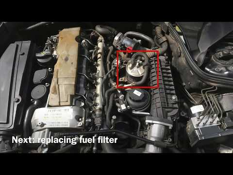 DIY Easy Mercedes Service! Changing Oil, Fuelfilter, Airfilter,.. Mercedes C Class