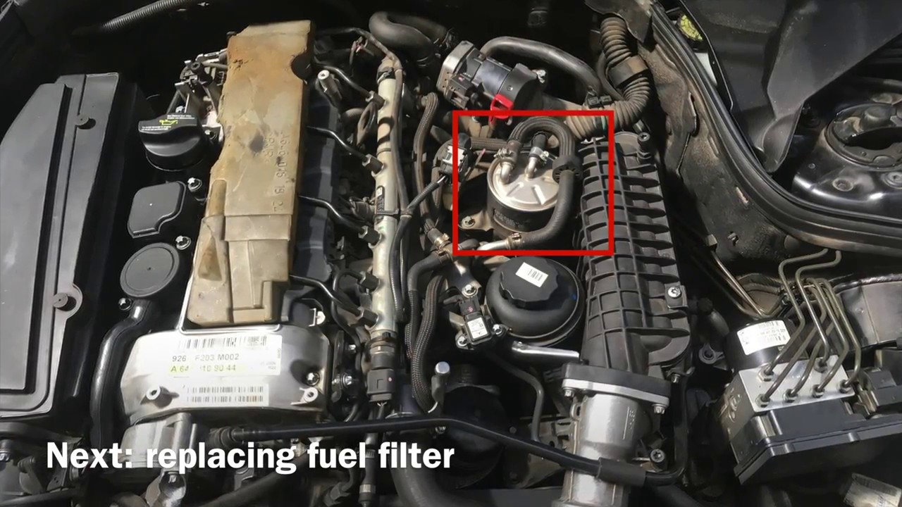 Diy Easy Mercedes Service Changing Oil Fuelfilter Airfilter Benz C280 Fuel Filter Location C Class