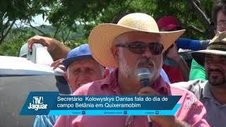Secretário Kolowyskys Dantas fala do dia de campo Betânia em Quixeramobim
