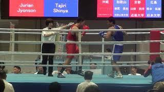 H30 国体 成年 LH級 ジュリアンジョンソン 対 田尻真也 ボクシング