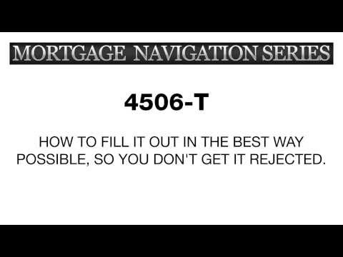 How to properly fill out the 4506T Form - YouTube