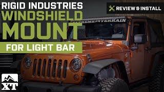 wrangler 2007 2017 jk rigid industries windshield mount for 50 led light bar review install