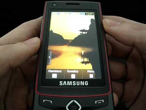 Samsung S8300 Ultra Touch - ekran główny i menu