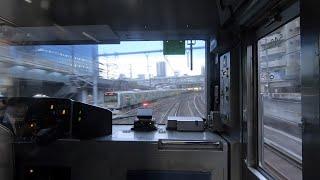 일본열차 ASMR을 위해 새벽 첫차 다음 열차를 탔습니다. JR Yamanote Line in Tokyo. Train ASMR & ATOS sound JR 山手線 列車走行 前面展望