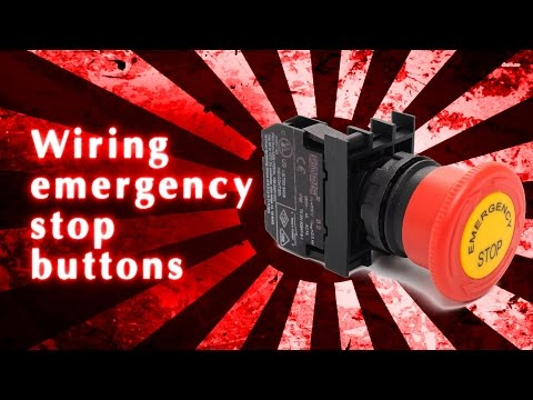 Wiring emergency stop ons - YouTube on e stop circuit example, e stop symbol drawing, 3 wire start stop diagram, basic emergency stop circuit diagram, e stop cable, e stop electric symbols, block diagram,