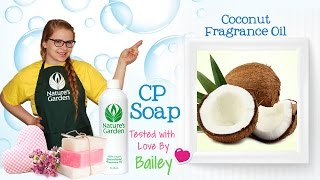 Soap Testing Coconut Fragrance Oil- Natures Garden