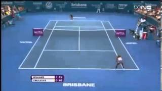 2014 Tennis Tournament Serena WILLIAMS USA vs Dominika CIBULKOVA SVK Brisbane Internationa