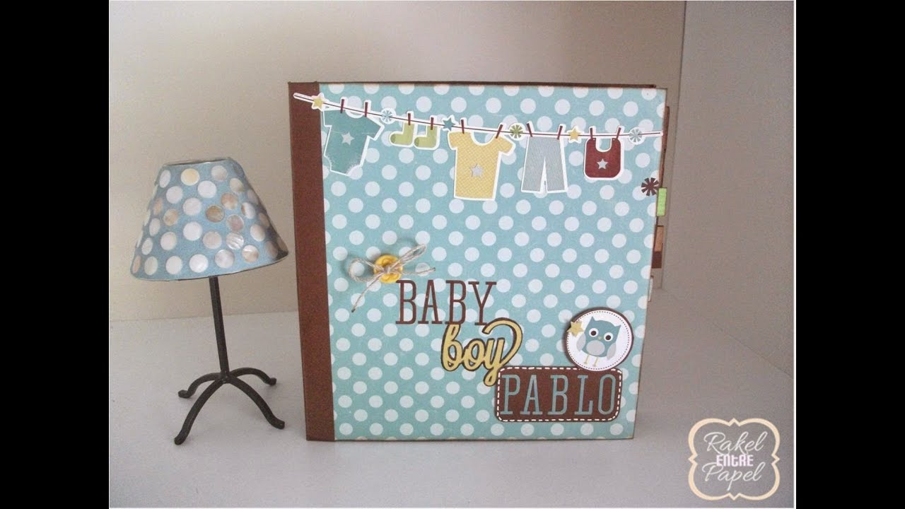mini lbum scrapbook para bebe youtube. Black Bedroom Furniture Sets. Home Design Ideas