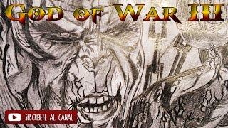 Drawing Kronos vs Kratos GOW III in Time Lapse Speed Art