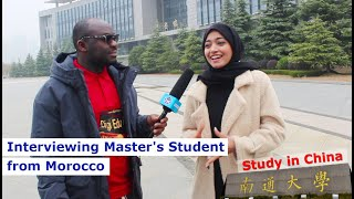 Master's Student Interview in China from Morocco, Nantong University
