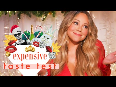 Mariah Carey Doesn't Have Time for Cheap Christmas Decorations | Expensive Taste Test | Cosmopolitan