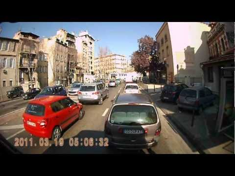 Trucking through the streets of Marseille, France.