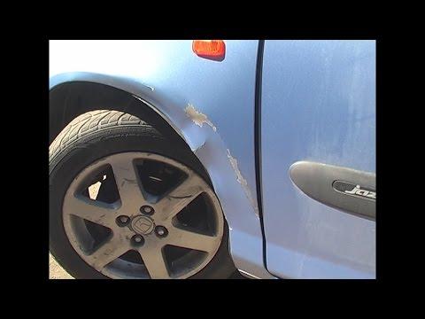 В движении открутилось колесо, ремонт переднего крыла Honda Jazz