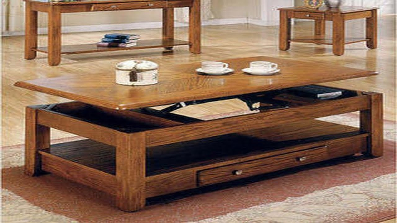 convertible coffee table - YouTube