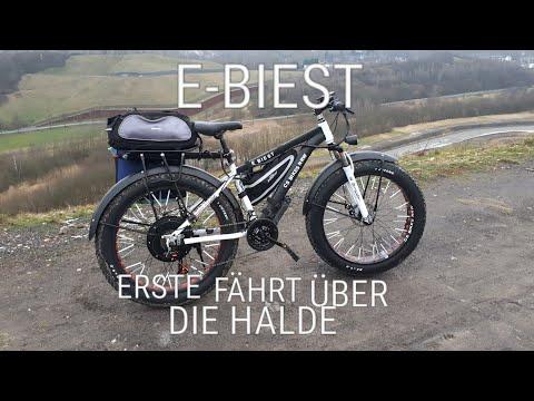 E-FATBIKE BIEST ERSTER FAHRTEST ÜBER DIE HALDE MIT SPEED TEST E-BIEST VLOG #1